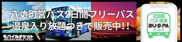 八丈島 2日間バス乗り放題・温泉入り放題「BU・S・PA(バスパ)」